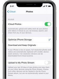 ios13 iphone11 pro settings name icloud photos crop