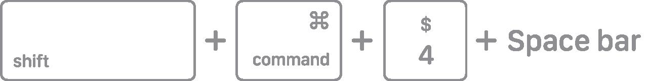 mac key combo diagram shift command 4 space