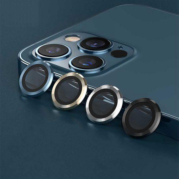 محافظ لنز دوربین آیفون 12 پرو مکس - پک سه تایی