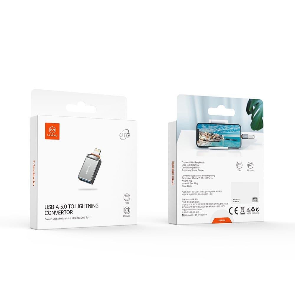 تبدیل OTG لایتنینگ به USB 3.0 مک دودو Mcdodo OT-8600 USB 3.0 to Lightning Convertor